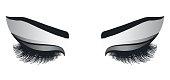 Female Eyes with Long Eyelashes