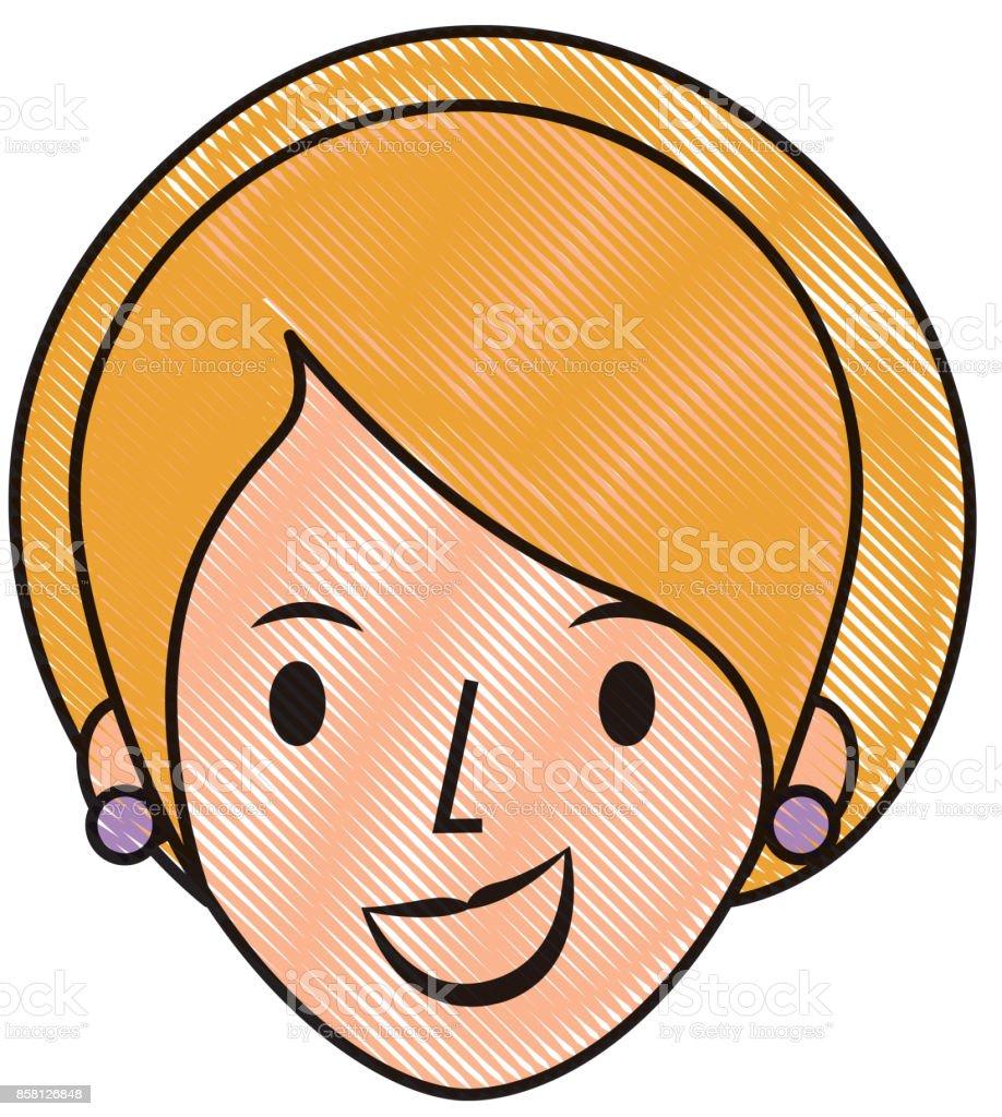 Vetores De Pessoas De Perfil De Mulher Rosto Feminino Dos Desenhos