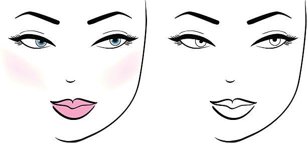 Female Face vector art illustration