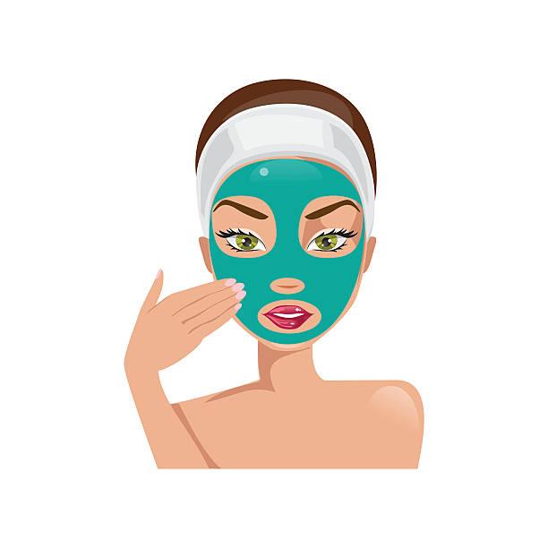 Facial Mask Beauty Product Clip Art, Vector Images ...