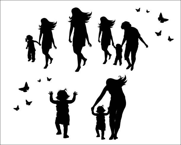 ilustrações de stock, clip art, desenhos animados e ícones de família feminina conceito de vetores - enjoying wealthy life