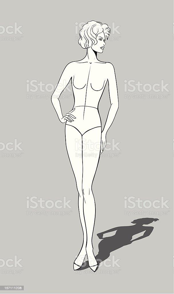 Female Fashion Figurine royalty-free stock vector art