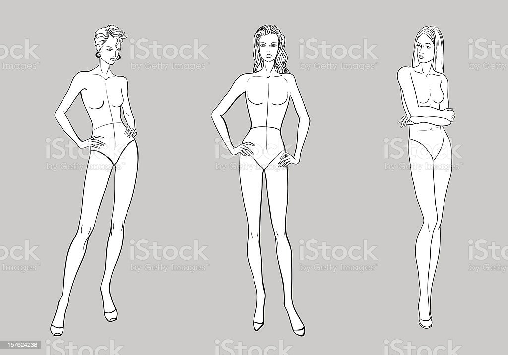 Female Fashion Figurines royalty-free stock vector art