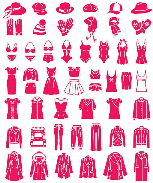 weibliche mode-ikonen - parkas stock-grafiken, -clipart, -cartoons und -symbole