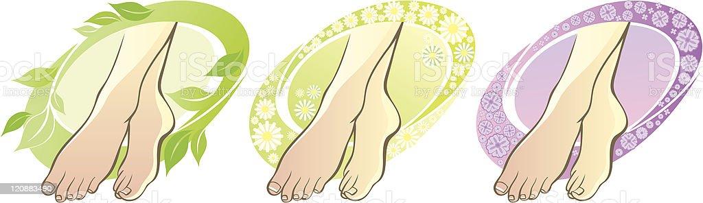 Female feet spa footcare royalty-free stock vector art