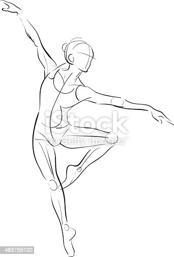 Female Figure Drawing Stock Vector Art  U0026 More Images Of 2015 483759132