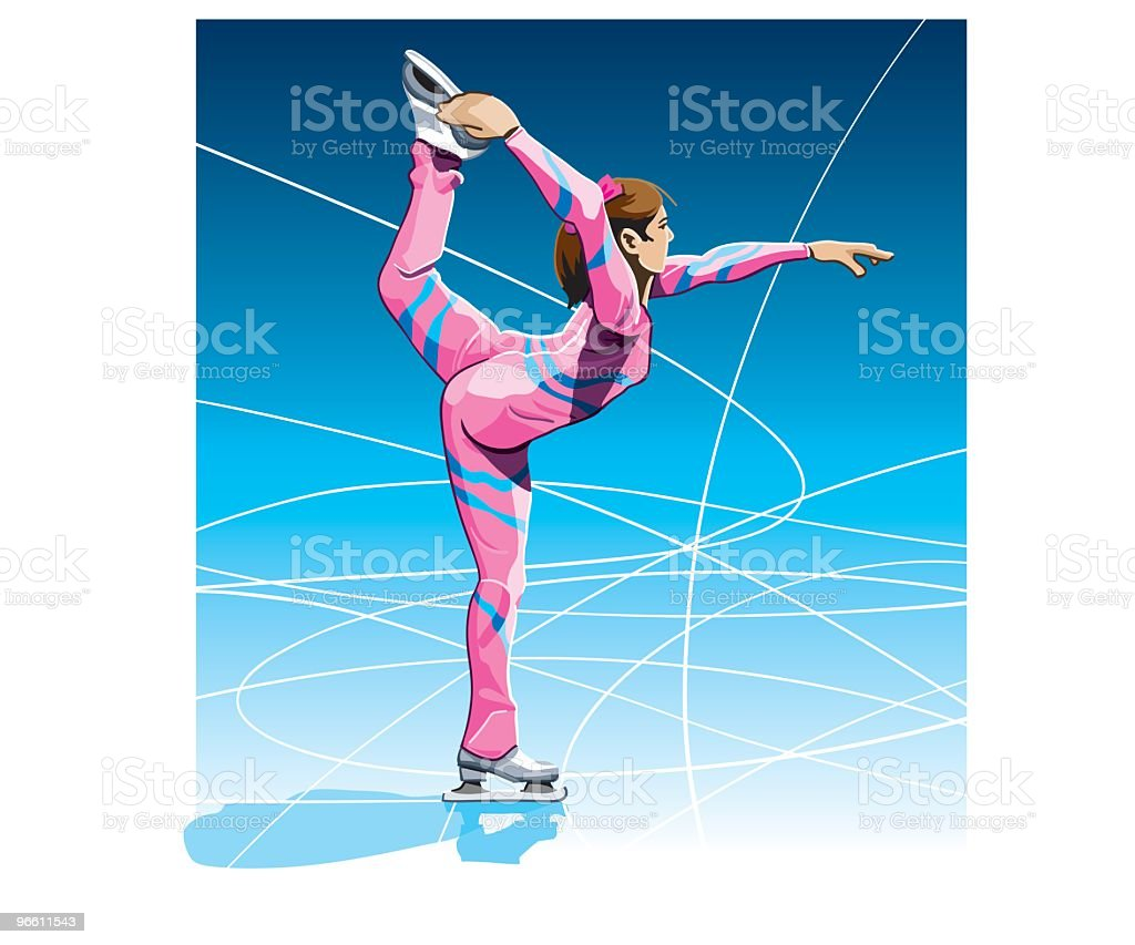 Female Figure Skater - Royalty-free Adult stock vector
