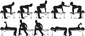 Female fitness silhouettehttp://www.twodozendesign.info/i/1.png