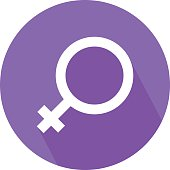 Female Gender Symbol Colored Vector Icon