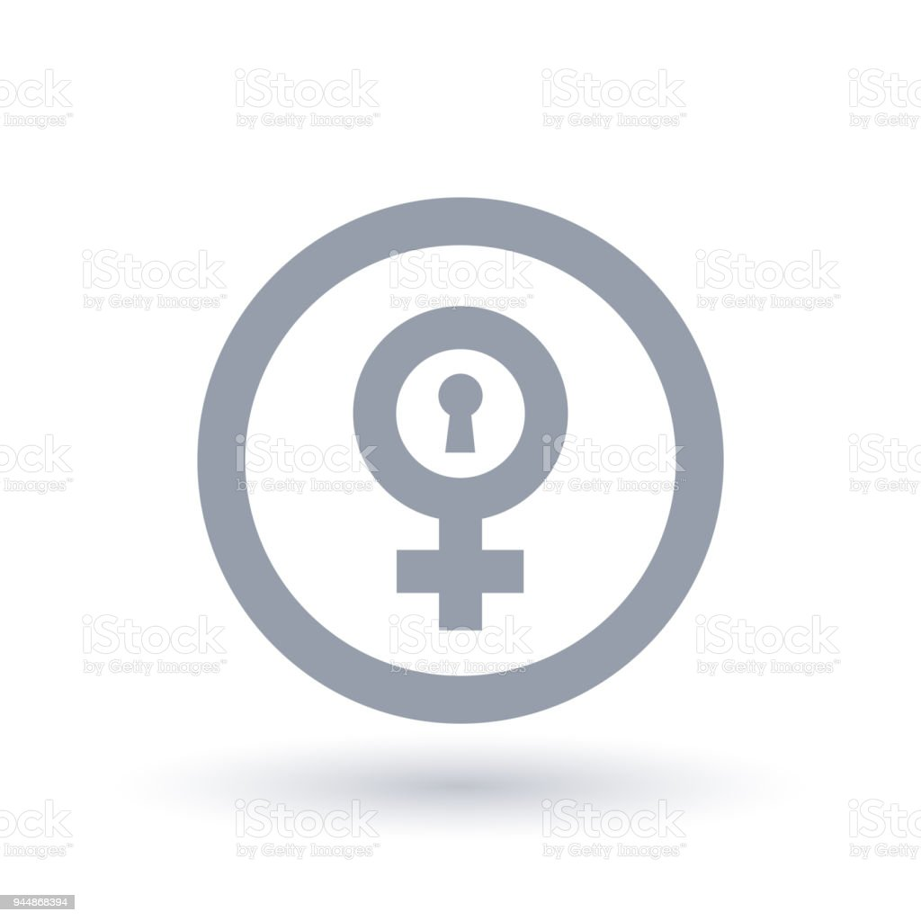 Female Gender Symbol With Keyhole Biological Woman Sign Stock Vector