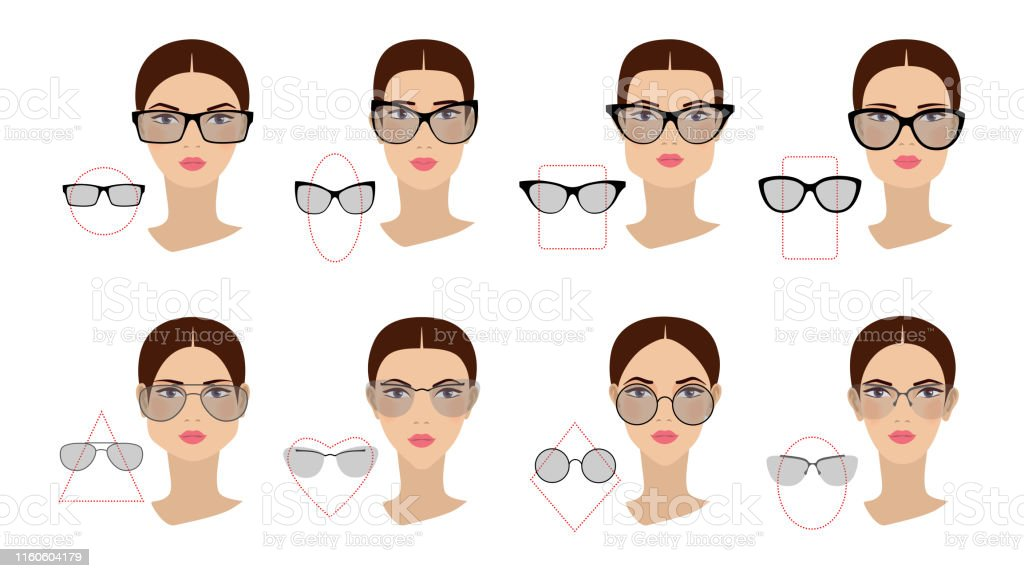 Brilliant Female Glasses Shapes In Accordance With The Shape Of The Face Schematic Wiring Diagrams Amerangerunnerswayorg