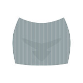 Female grey short skirt, fashion women clothes vector Illustration on a white background