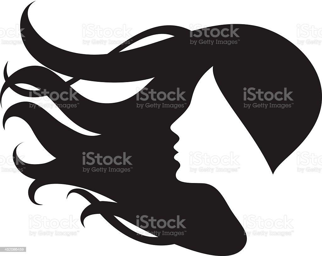 Female hair vector art illustration