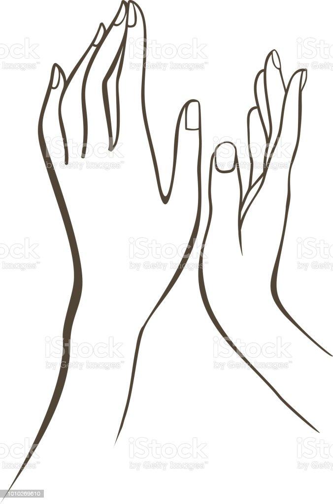 dessiner une main de femme