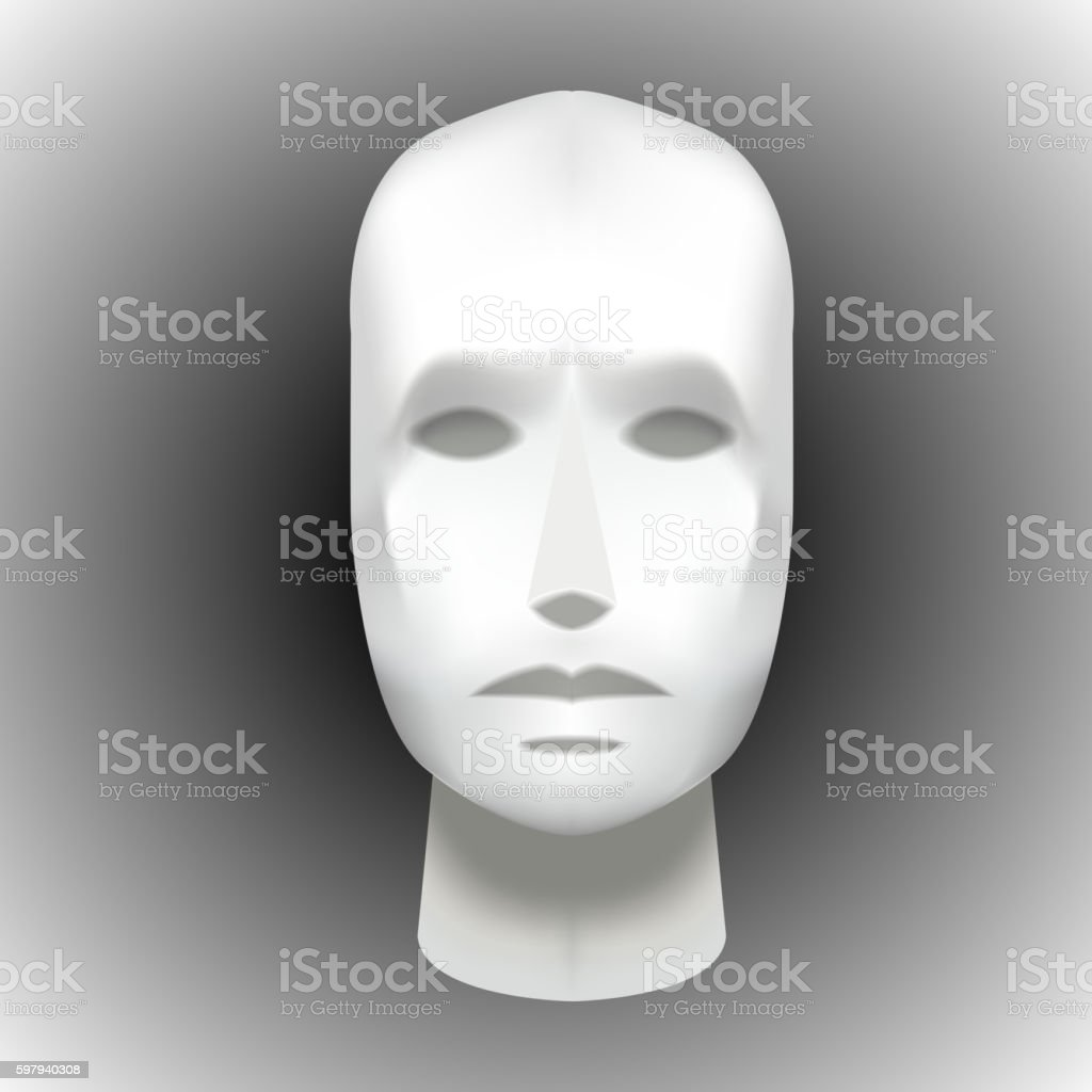 Female Head Blank Mannequin - Front view vector EPS ilustração de female head blank mannequin front view vector eps e mais banco de imagens de anatomia royalty-free