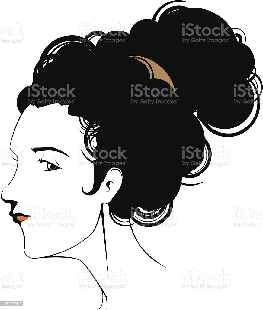 Female head royalty-free female head stock vector art & more images of adult