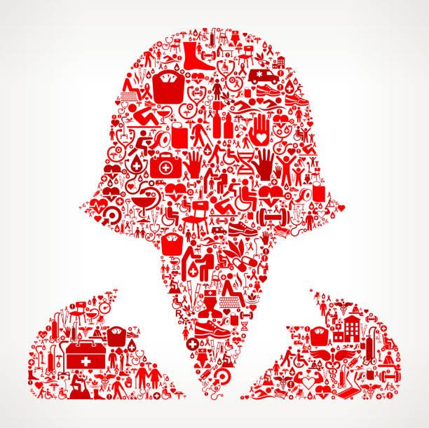 ilustrações de stock, clip art, desenhos animados e ícones de female headshot  medical rehabilitation physical therapy - senior business woman tablet