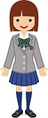Female High school student - blazer