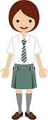 Female High school student - Tie