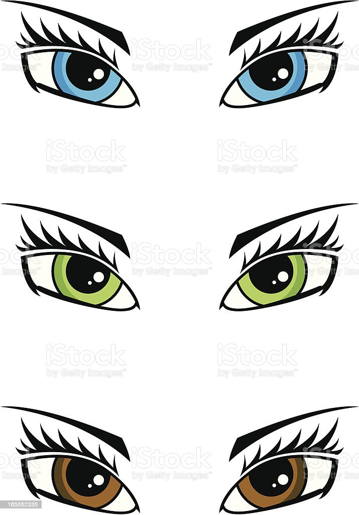 Female Human Eye vector art illustration