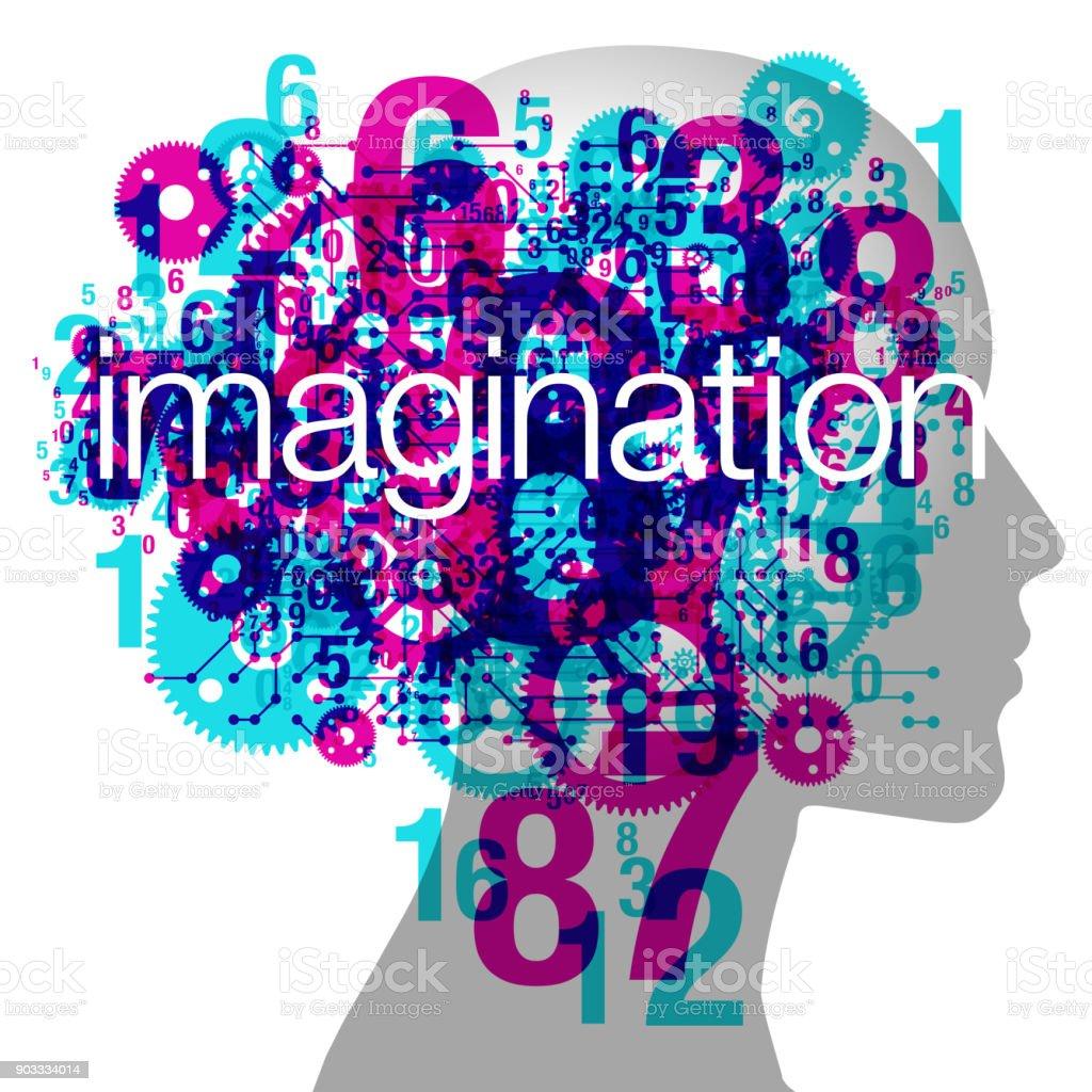 Female Imagination vector art illustration