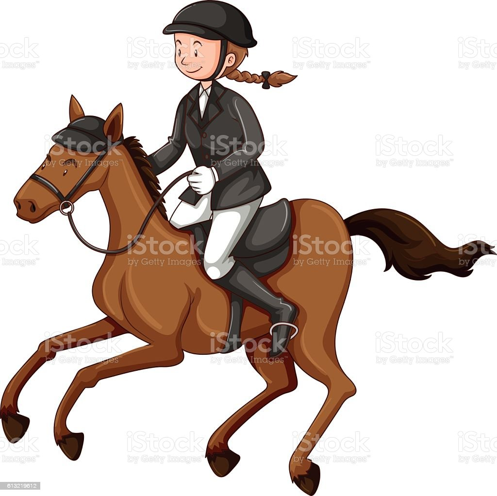 royalty free woman riding horse clip art vector images rh istockphoto com horse riding clipart free horse racing clipart in ai free