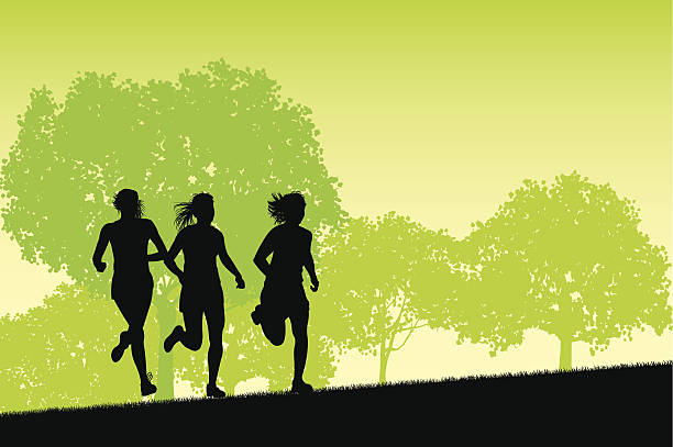 Cross Country Running Clip Art, Vector Images ...