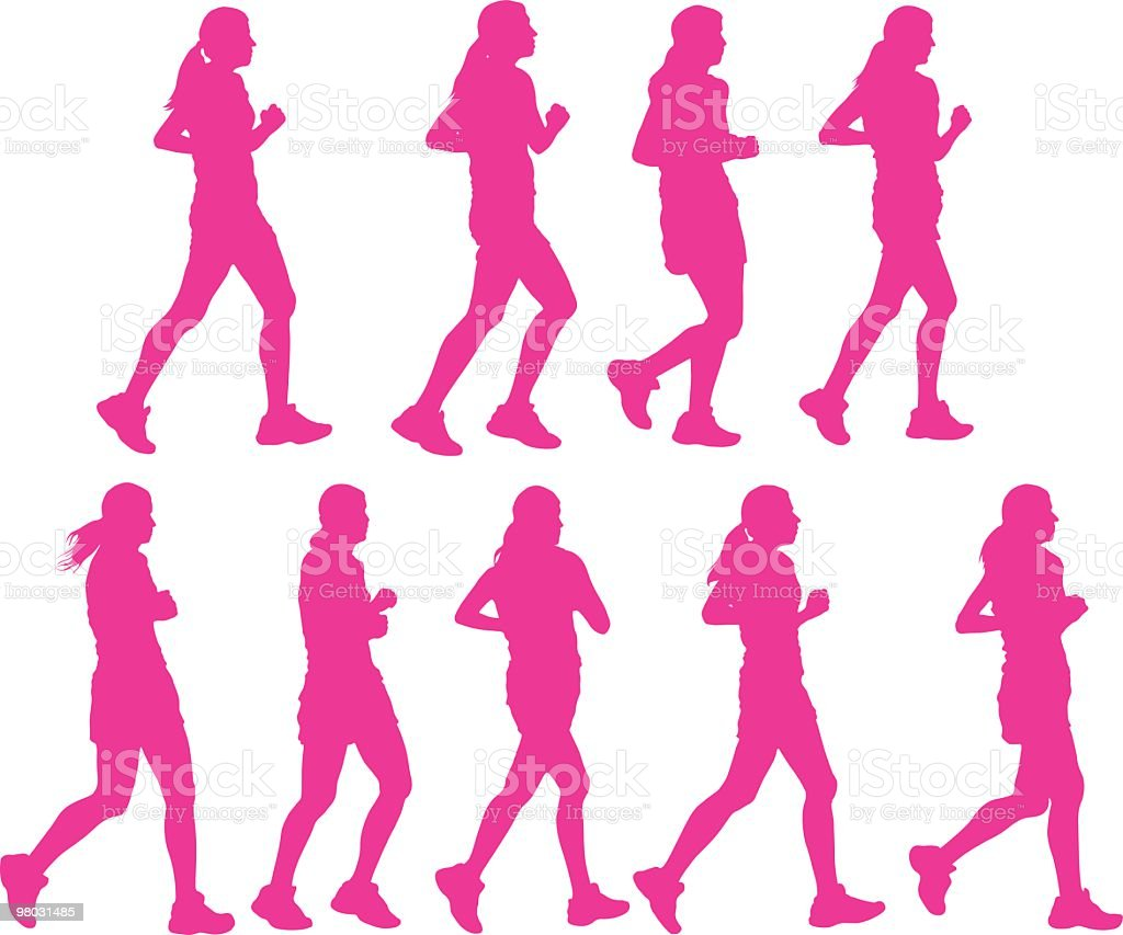 Female joggers royalty-free female joggers stock vector art & more images of adult