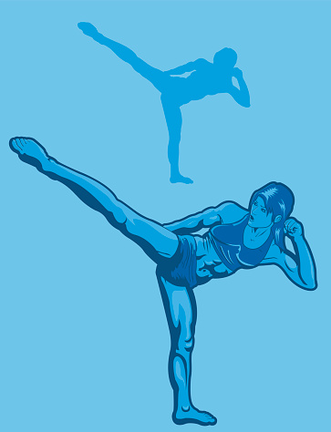 Female Kickboxer