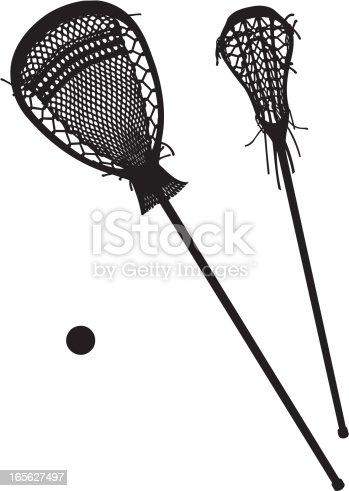 Female Lacrosse Goalie Forward Stick With Ball Stock