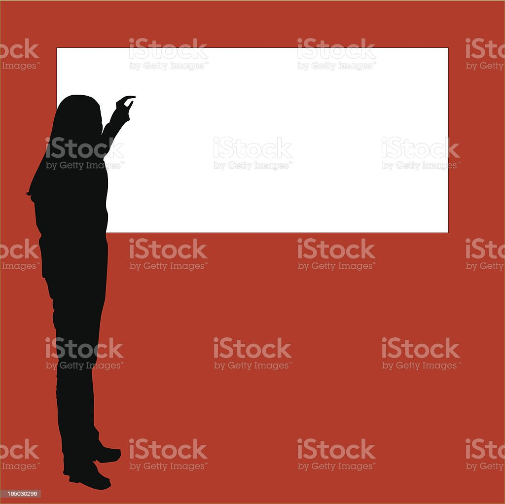 Female Lecturer (Vector) royalty-free stock vector art