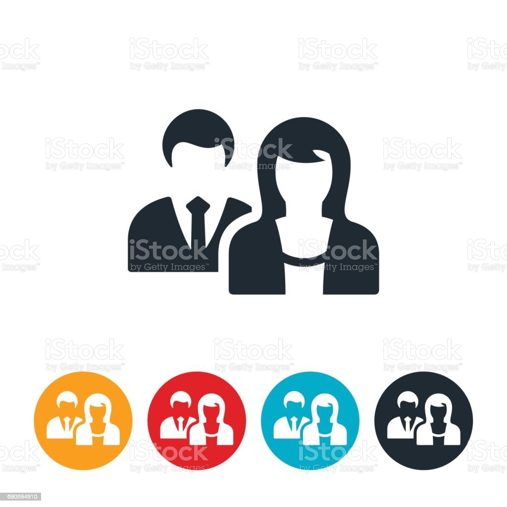 Female Led Business Icon vector art illustration