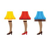 Female leg lamps set