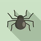 Female mouse spider icon. Flat illustration of female mouse spider vector icon for web design