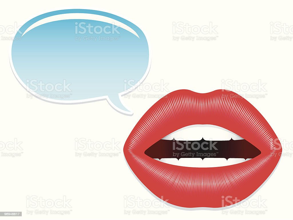 Female mouth with speech bubbles royalty-free female mouth with speech bubbles stock vector art & more images of adult