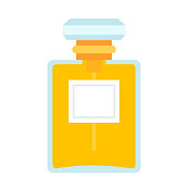 Female perfume vector flat isolated