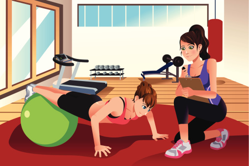 Personal trainer stock illustrations