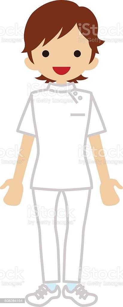 Female Physiotherapist vector art illustration