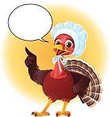 Female Pilgrim Turkey With Speech Ban - Thanksgiving