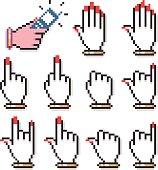 Female Pixel Hand Computer Cursors