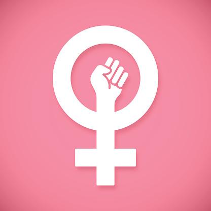 Female Power Raised Fist