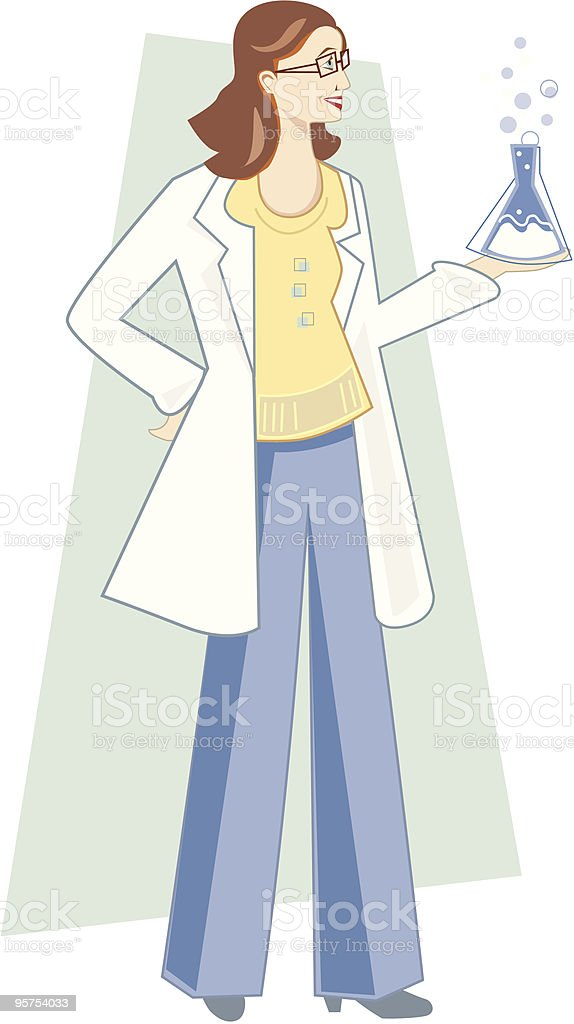 Female Scientist royalty-free stock vector art