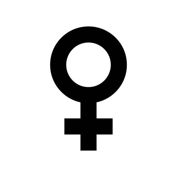 female sex symbol icon. black, minimalist icon isolated on white background. - venus stock illustrations