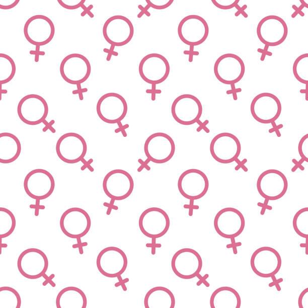 여성 섹스 기호 아이콘 완벽 한 패턴 벡터 배경 - 여성의 권리 stock illustrations