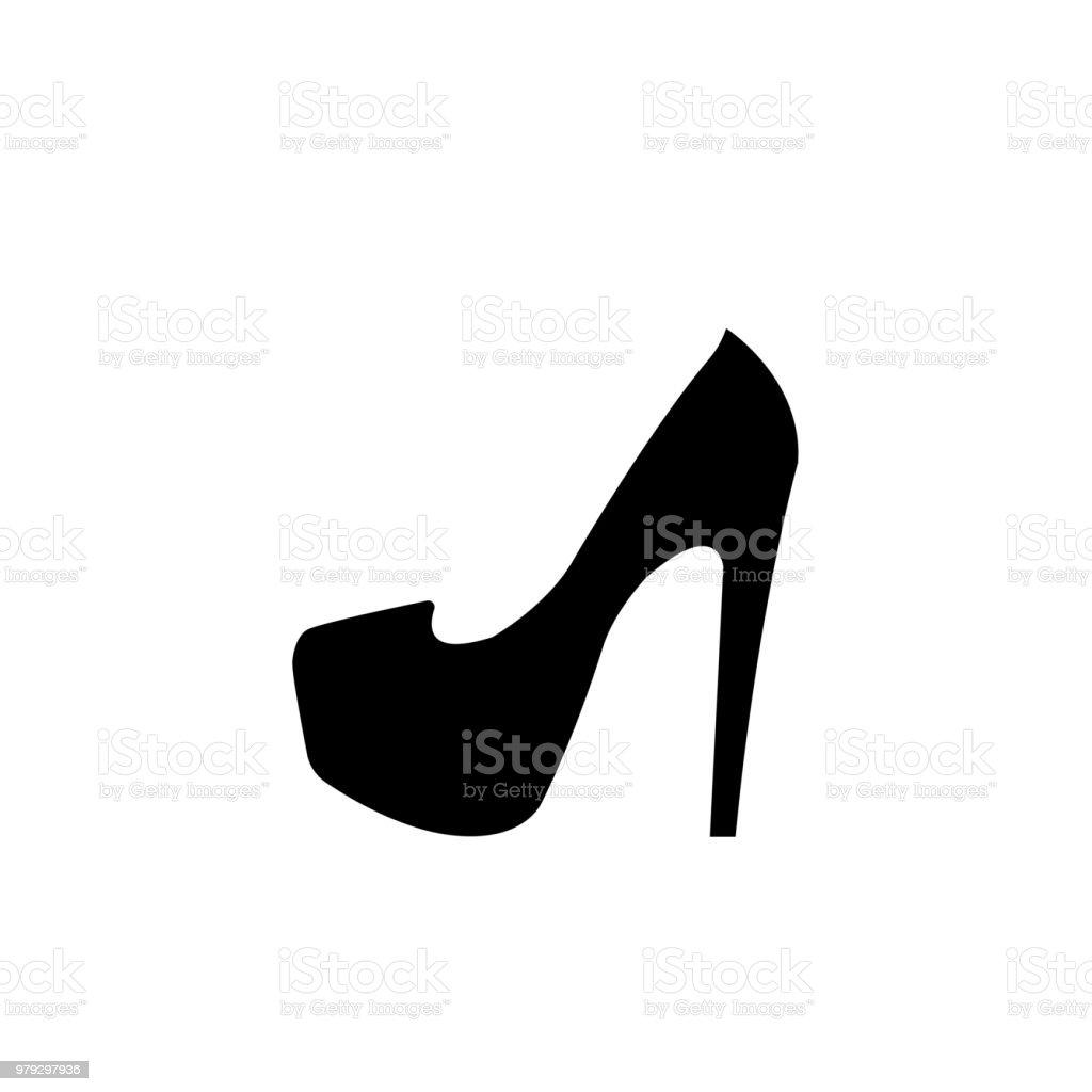 7f885b208d Zapatos mujer con tacón alto. Elegante zapatilla negra con spike talón  sobre fondo blanco.