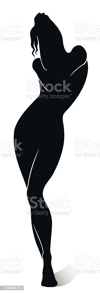 Female silhouette vector art illustration