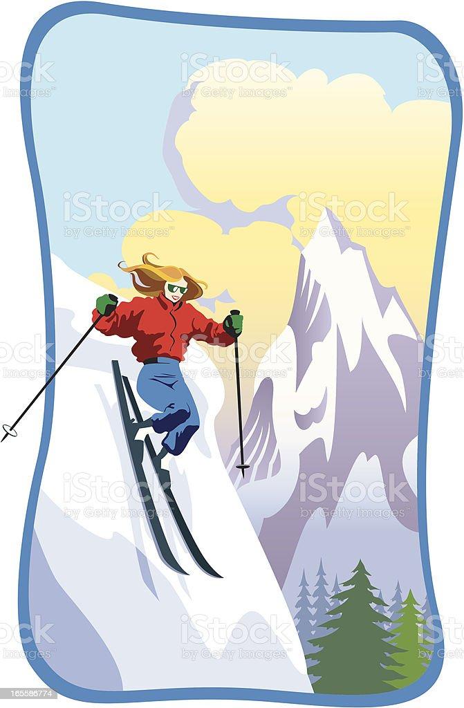 Female Skier royalty-free female skier stock vector art & more images of adult
