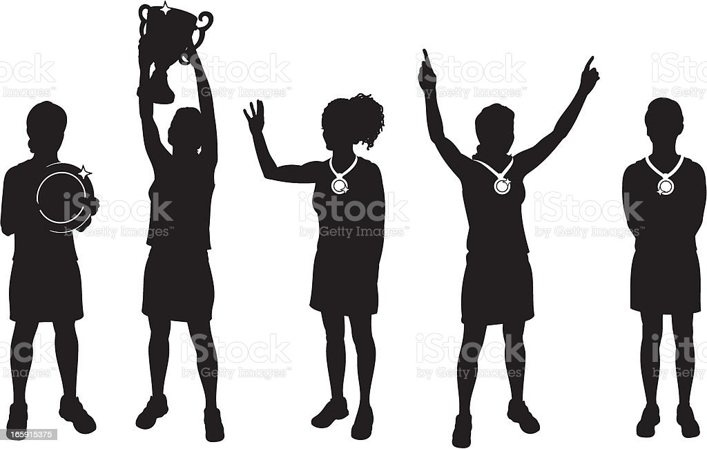 Female Sports Winners royalty-free female sports winners stock vector art & more images of adult