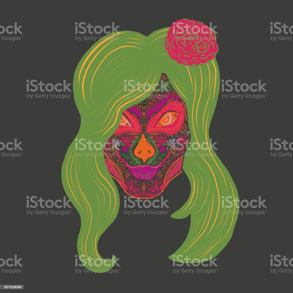 1d193a84f2b Female Sugar Skull Painted Face For Day Of The Dead Celebration ...