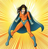 A young and beautiful super heroine knows no fear. She's ready to take on any sort of danger.